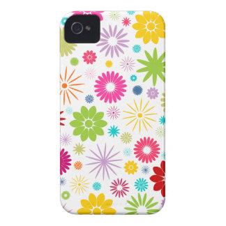 Capa de iphone 4 floral colorido do design do