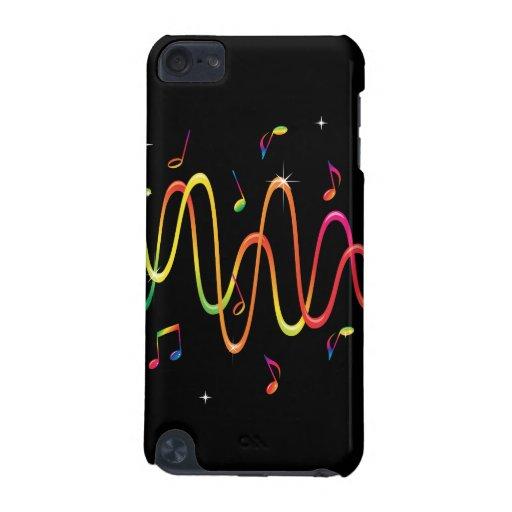 Capa de ipod colorida das ondas sadias da música d