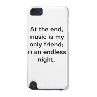 Capa de ipod inspirador das citações da música