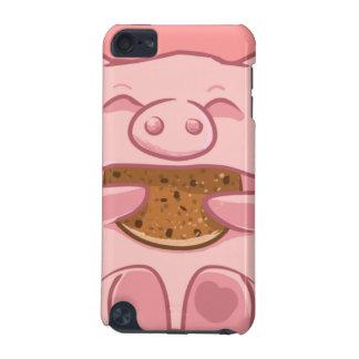 capa de ipod leitão cor-de-rosa do biscoito comer capa para iPod touch 5G
