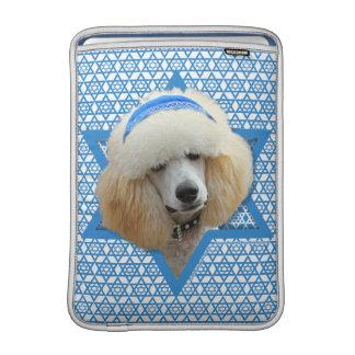 Capa De MacBook Air Estrela de David de Hanukkah - caniche - abricó