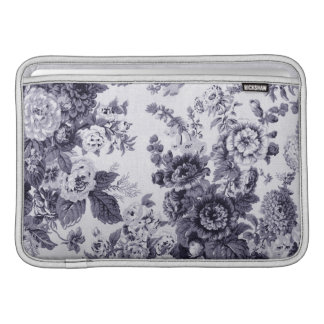 Capa De MacBook Air Mulberry Toile floral roxo azul No.3