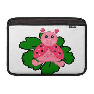 Capa De MacBook Joaninha cor-de-rosa