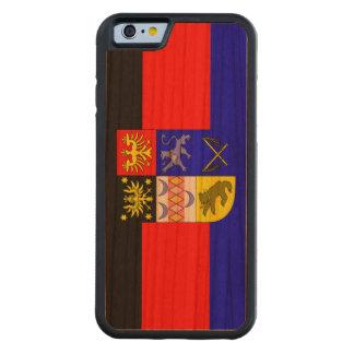 Capa De Madeira Cerejeira Bumper Para iPhone 6 Frisia do leste, bandeira