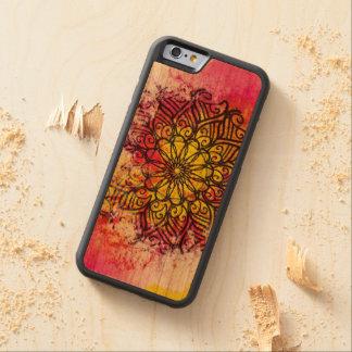 Capa De Madeira Cerejeira Bumper Para iPhone 6 Mandala da integralidade