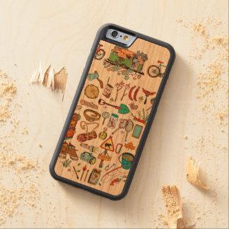 Capa De Madeira Cerejeira Bumper Para iPhone 6 Vá sobre para aventuras! Aquele é tempo!