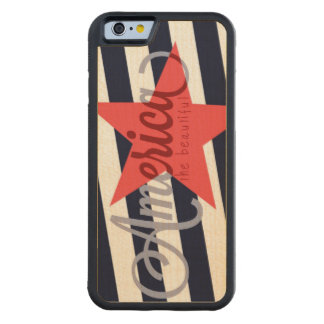 CAPA DE MADEIRA DE BORDO BUMPER PARA iPhone 6