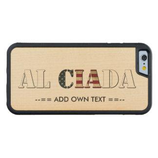 Capa De Madeira De Bordo Bumper Para iPhone 6 AL CIA A Dinamarca (adicione para possuir o texto)