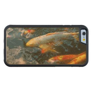 Capa De Madeira De Bordo Bumper Para iPhone 6 Animal - peixe - dê a boa fortuna