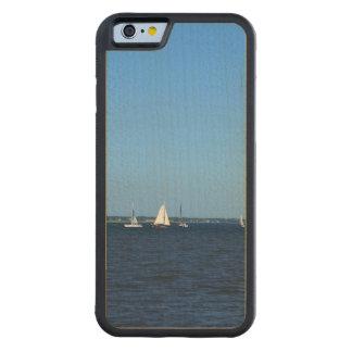 Capa De Madeira De Bordo Bumper Para iPhone 6 Bateria de Charleston