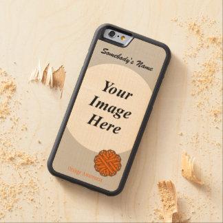 Capa De Madeira De Bordo Bumper Para iPhone 6 Fita alaranjada Tmpl da flor por Kenneth Yoncich