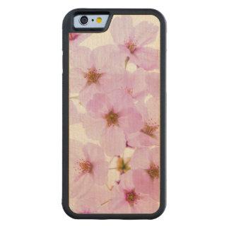 Capa De Madeira De Bordo Bumper Para iPhone 6 Flores da flor de cerejeira em Tokyo Japão