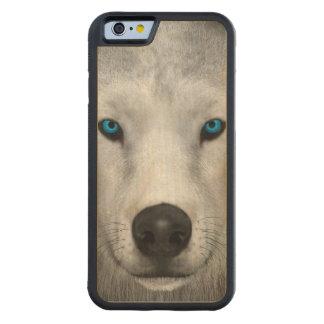 Capa De Madeira De Bordo Bumper Para iPhone 6 Lobo ártico