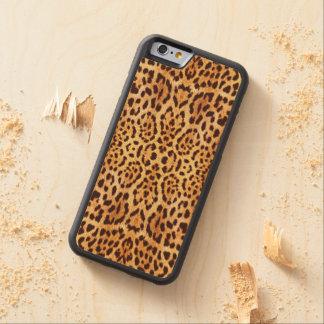 Capa De Madeira De Bordo Bumper Para iPhone 6 pele elegante do leopardo