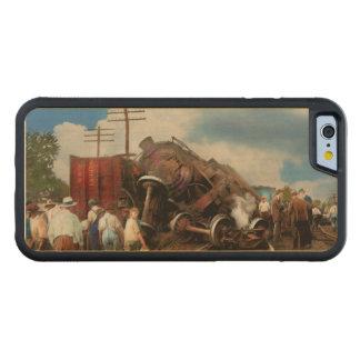 Capa De Madeira De Bordo Bumper Para iPhone 6 Trem - acidente - cabeças de terminação 1922