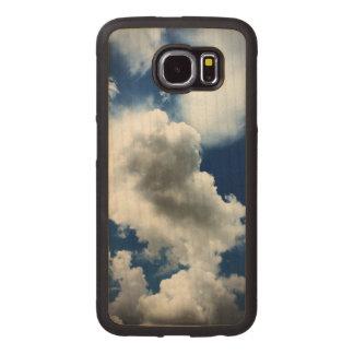 Capa De Madeira Para Telefone Céu azul com nuvens