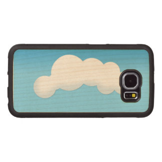 Capa De Madeira Para Telefone Nuvem