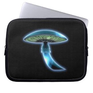 Capa De Notebook A bolsa de laptop azul de incandescência de Sci Fi