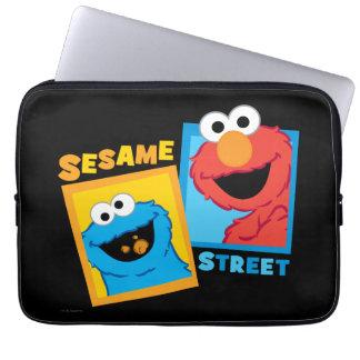 Capa De Notebook Amigos de Elmo e de monstro do biscoito