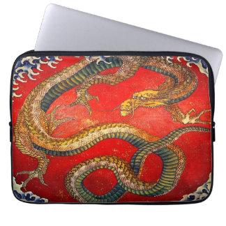 Capa De Notebook Arte japonesa do dragão pela bolsa de laptop de