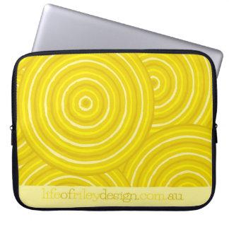 Capa De Notebook Linha aborígene capas do computador da pintura