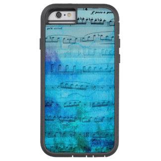 Capa de telefone azul da aguarela da música de capa tough xtreme para iPhone 6