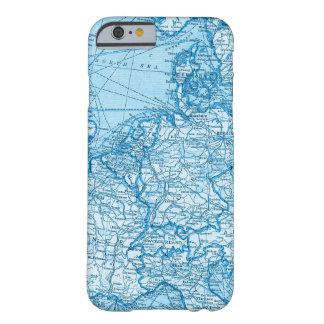 Capa de telefone azul do mapa do mundo de Europa