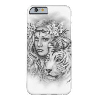 Capa de telefone branca da flor da menina do tigre