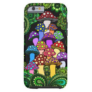Capa de telefone colorida dos cogumelos capa para iPhone 6 tough