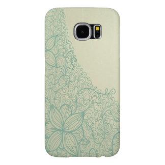 Capa de telefone da flor do Doodle Capas Samsung Galaxy S6