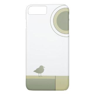 Capa de telefone da gaivota do bloco da cor