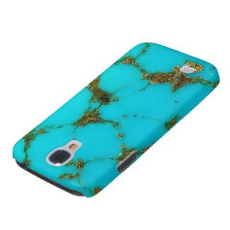 Capa de telefone da galáxia de Samsung de turquesa