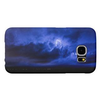 Capa de telefone da galáxia S6 do relâmpago do céu
