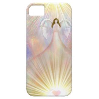 Capa de telefone da luz do coração do anjo capa para iPhone 5