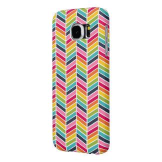 Capa de telefone de Chevron do arco-íris