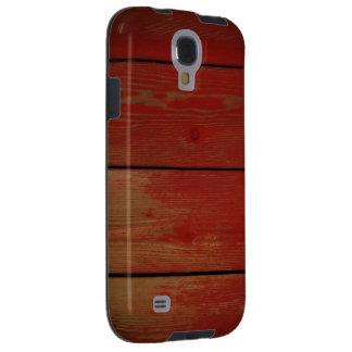 Capa de telefone de madeira vermelha da galáxia S4