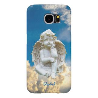 Capa de telefone de mármore bonito do anjo do bebê