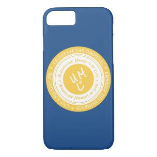 Capa de telefone do iPhone 7 do selo do logotipo