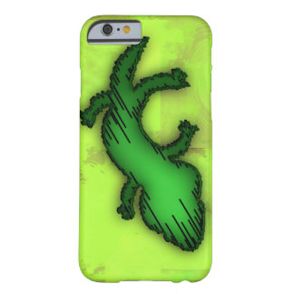 Capa de telefone do lagarto verde capa barely there para iPhone 6