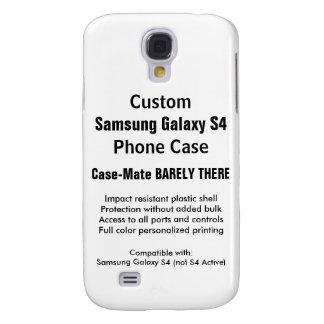 Capa de telefone feita sob encomenda da galáxia S4