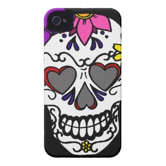 Capa de telefone feminino do crânio do açúcar capa iPhone 4 Case-Mate