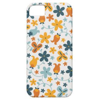 Capa de telefone floral do fechamento