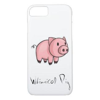 Capa de telefone lunática do porco