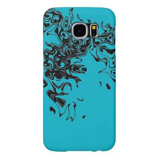 capa de telefone preta e azul