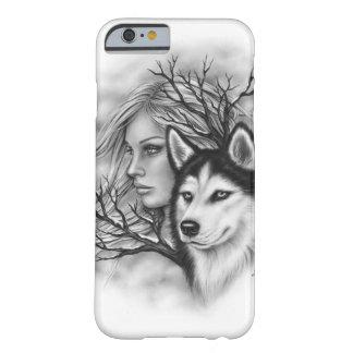 Capa de telefone ronca da menina do lobo das almas