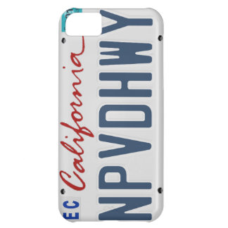 Capa de telefone Unpaved da matrícula da estrada Capa Para iPhone 5C