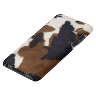 Capa do ipod touch do impressão do couro do couro capa para iPod touch