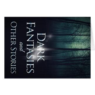 """Capa do livro """"de fantasia escuras"""" por Joel Puga Cartão Comemorativo"""