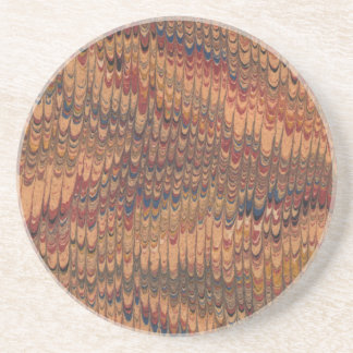 Capa do livro do vintage porta copos de arenito