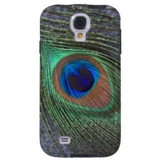 Capa Galaxy S4 Pena do pavão em cinzas